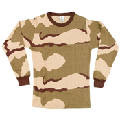 Ultra Force TriColor Desert Camo Thermal Knit Tops