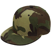 6-Panel Woodland Camo Fitted Cap