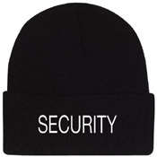 Embroidered Security Watch Cap