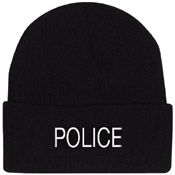 Embroidered Police Watch Cap