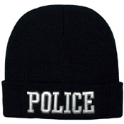Deluxe Embroidered Police Watch Cap
