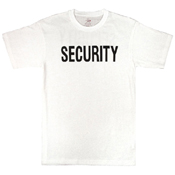 Mens White Security T-Shirt