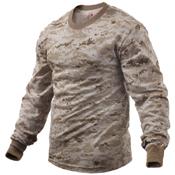 Mens Long Sleeve Digital Camo T-Shirts