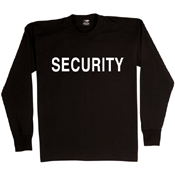 Mens 2-Sided Security Long Sleeve T-Shirt