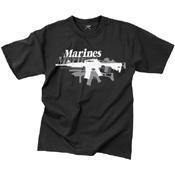 Mens Vintage Marines Gun T-Shirt