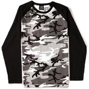 Mens 2-Tone Raglan Long Sleeve T-Shirt