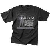 Mens Vintage Its Our Right T-Shirt