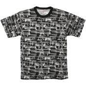Mens Vintage Black Faded Guns T-Shirt