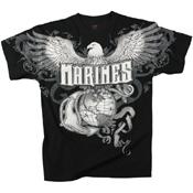 Mens Vintage Marines Eagle G & A T-Shirt
