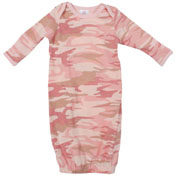 Infant Long Sleeve Camo Sleeper One-Piece