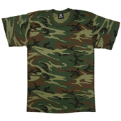 Mens Woodland Camo U.S. Made T-Shirt