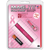 Solitaire AAA Breast Cancer Awareness Flashlight