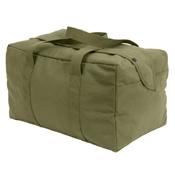Canvas Small Parachute Black Cargo Bag
