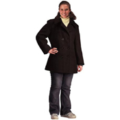 Womens Navy Type Black Wool Peacoat