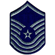 USAF Senior Master Sergeant 1986-1992 Large Silver Patch