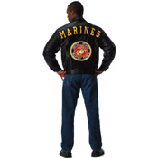 Mens Marines Leather Jacket