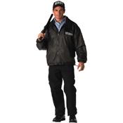 Mens Security Reversible Nylon Polar Fleece Jacket