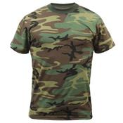 Childrens Woodland Camo Heavyweight T-Shirt