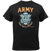 Mens Black Army Emblem T-Shirt