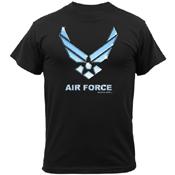 Mens Black Ink Black Air Force T-Shirt