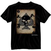 Mens Black Ink Death Card T-Shirt