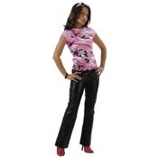 Womens Short Sleeve Camo Raglan T-Shirt