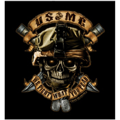 Mens Black Ink U.S.M.C. We Fight What You Fear T-Shirt