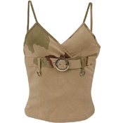 Womens 2-Tone Tank Top With Buckle
