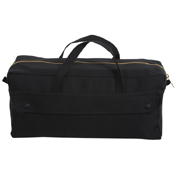 Canvas Jumbo Tool Black Bag with Brass Zipper