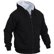 Mens Heavyweight Sherpa Lined Zippered Sweatshirt