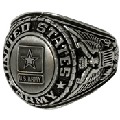Deluxe Army Silver Insignia Ring