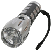Grey LED 1 Standard Bulb Flashlight