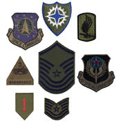 Subdued Military 50 Pieces Assorted Military Patches