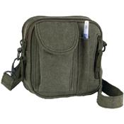Vintage Olive Drab Canvas Organizer Bag