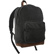 Vintage Canvas Teardrop Backpack with Leather Accents