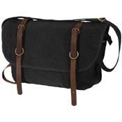 Vintage Canvas Explorer Shoulder Bag with Leather Accents