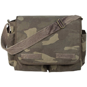Vintage Washed Canvas Messenger Bag