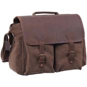 Vintage Leather Flap Messenger Bag