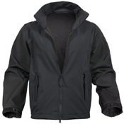 Mens Black Soft Shell Uniform Jacket